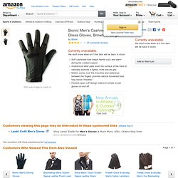 Bionic Men's Cashmere-Lined Dress Gloves: Sports & Outdoors