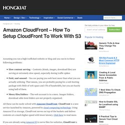 Amazon CloudFront – How To Setup CloudFront To Work With S3