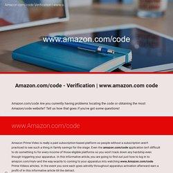 Amazon.com/code - Verification