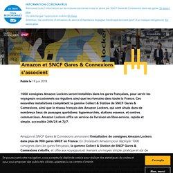 Amazon et SNCF Gares & Connexions s'associent
