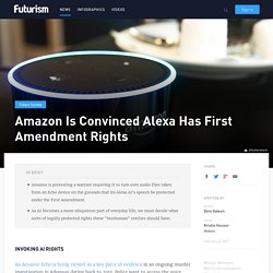 Amazon Is Convinced Alexa Has First Amendment Rights