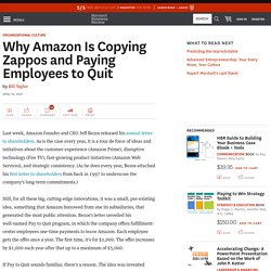 Why Amazon Is Copying Zappos and Paying Employees to Quit