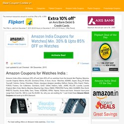 Amazon Coupons for Watches India