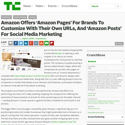 Amazon Offers 'Amazon Pages' For Brands To Customize With Their Own URLs, And 'Amazon Posts' For Social Media Marketing