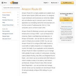 Amazon Route 53 - Domain Name Server - DNS Service