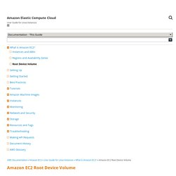 Amazon EC2 Root Device Volume