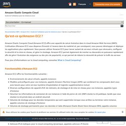 Qu'est-ce qu'Amazon EC2? - Amazon Elastic Compute Cloud