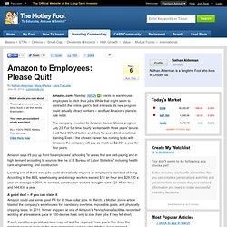 Amazon to Employees: Please Quit!