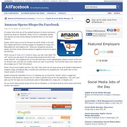 Amazon Opens Shops On Facebook