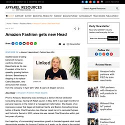 Amazon Fashion gets new Head