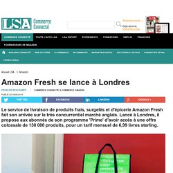Amazon Fresh se lance à Londres