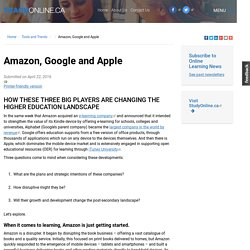 Amazon, Google and Apple