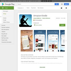 Kindle – Applications Android sur GooglePlay