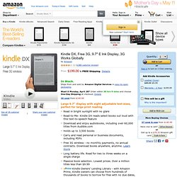 "Kindle DX Wireless Reading Device (9.7"" Display, U.S. Wireless):"