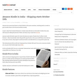 Amazon Kindle Price in India
