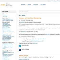 Kindle Direct Publishing: Help