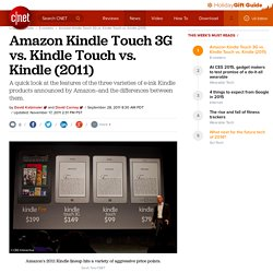 Amazon Kindle Touch 3G vs. Kindle Touch vs. Kindle (2011) | E-book readers