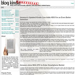 Amazon Kindle 2, Kindle 3 And Kindle DX Blog