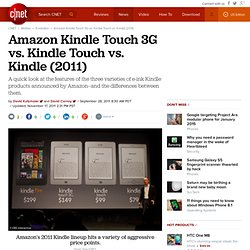 Amazon Kindle Touch 3G vs. Kindle Touch vs. Kindle (2011)