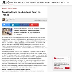 Amazon lance ses boutons Dash en France