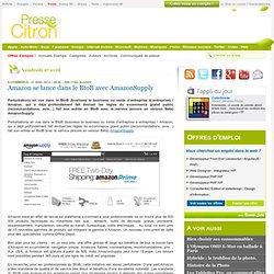Amazon se lance dans le BtoB avec AmazonSupply
