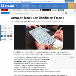 Amazon lance son Kindle en France