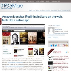 Amazon launches iPad Kindle Store on the web, feels like a native app