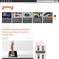 Amazon launching Amazon Coins currency for use on Kindle Fire