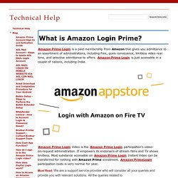 What is Amazon Login Prime? - Technical Help