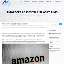 Amazon's losses to rise as it aims