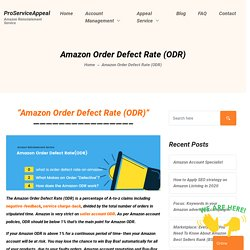Amazon Order Defect Rate (ODR)