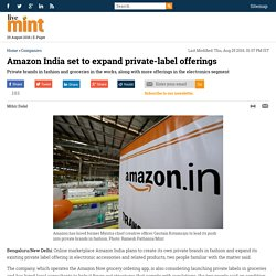 Amazon India set to expand private-label offerings