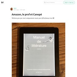 Amazon, le prof et Canopé