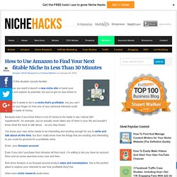 How to Use Amazon to Find Your Next Profitable Niche In Less Than 30 Minutes