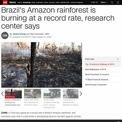 Amazon rainforest fires are burning at a record rate