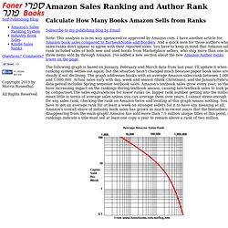 Amazon Sales Rank - Sales Ranks For Amazon Self Publishing and Trade Books
