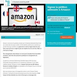 Amazon: payez votre juste part d'impôt et remboursez vos dettes en France!