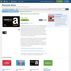 $50 Amazon.com e-Gift Card, Redeemable Prize from our Swag Store: Swagbucks