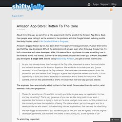 Amazon App Store: Rotten To The Core