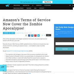 Amazon's Terms of Service Now Cover the Zombie Apocalypse!