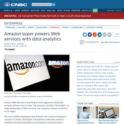 Amazon super powers Web services with data analytics