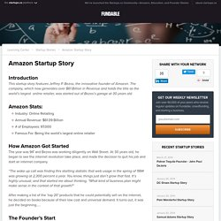 Amazon Startup Story