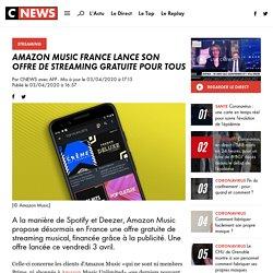 Amazon Music France lance son offre de streaming gratuite pour tous