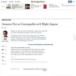 Amazon Not as Unstoppable as It Might Appear - NYTimes.com