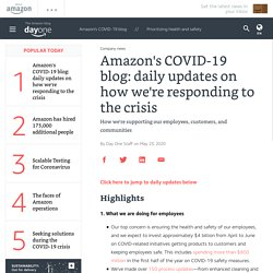 Amazon's COVID-19 blog: daily updates on how we're responding to the crisis