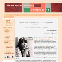 El tiempo de las amazonas de Marvel Moreno - Ómnibus, Revista intercultural n. 40-41