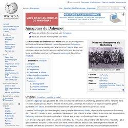 Les Amazones du Dahomey (actuel Bénin)