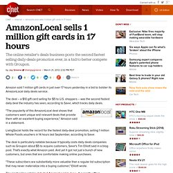 AmazonLocal sells 1 million gift cards in 17 hours | Digital Media