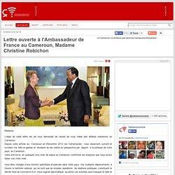 CAMEROONVOICE.com : Lettre ouverte l'Ambassadeur de France au Cameroun, Madame Christine Robichon