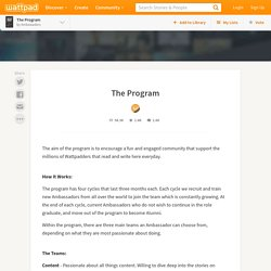 The Ambassador Program - The Program - Page 1 - Wattpad